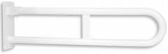 Klappbarer Doppelhandgriff Edelstahl weiss 83 cm
