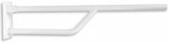 Klappbarer Einfachhandgriff Edelstahl weiss 80 cm