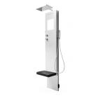 Rigenera Dampfgenerator mit Duschsäule und Regenbrause Corian®